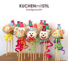 Colorful Confetti & Clowns Cake Pops