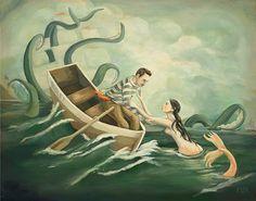 The Deep Green Sea / Large Print 14x11