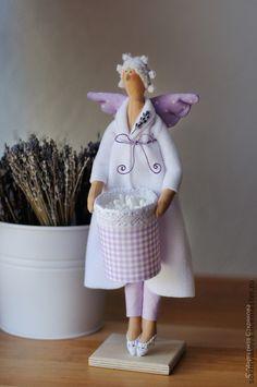 Лавандовая хранительница ватных палочек. - тильда,банный ангел,банная фея