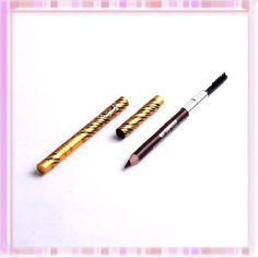 Deep Brown Waterproof Lock Color Eyeliner Eyebrow Pencil Makeup w/ Brush B0245