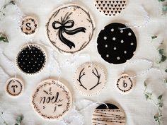 Easy DIY Xmas ornaments, gift tags