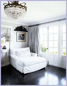 French Scandinavian White Decor - I would sit and read here every day!