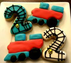 Train Cookie Favors (One Dozen) by CakeItToTheLimit for $21.00
