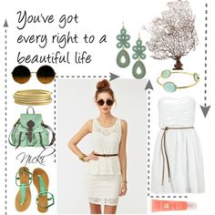 Who Says, created by conversecutie10 on Polyvore featuring the Stella & Dot - Capri Chandelier Earrings in Turquoise