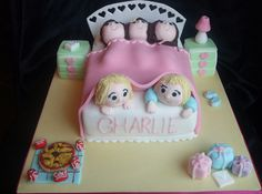 Girls sleepover birthday cake, via Flickr.