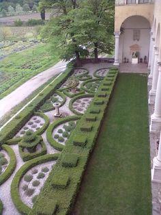 formal garden, giardino allitaliana, abbazia di, region itali, veneto region