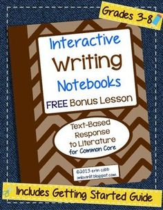 Interactive Writing Notebooks ~ Free Bonus Lesson ~ Citing Text Evidence