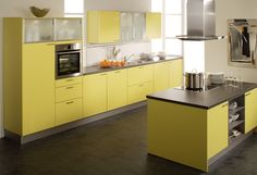 gelbe k chen yellow kitchens on pinterest 25 pins. Black Bedroom Furniture Sets. Home Design Ideas