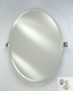 Home kitchen bathroom mirrors on pinterest polished for Oval swivel bathroom mirror