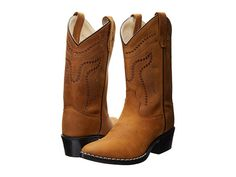 Old West Kids Boots Western Boots (Toddler/Little Kid) Light Brown - Zappos.com Free Shipping BOTH Ways