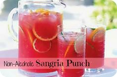 Looking for a simple punch to serve at a Halloween (or any kind!) of party?  Try this Non Alcoholic Sangria Punch!