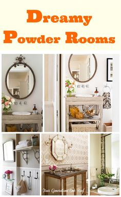 Dreamy Powder Rooms {mini-makeover in the works} @Mandy Bryant Dewey Generations One Roof