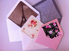 DIY: Personalized Envelope Liners.