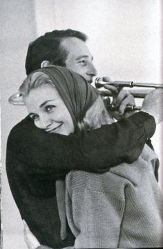 Such a sweet photo- Paul Newman & Joanne Woodward.
