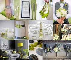 Gray and Green Wedding