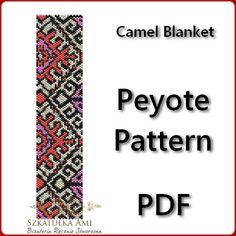 Camel Blanket Peyote Pattern Beading  Tutorial by BeadingPattern, $5.00