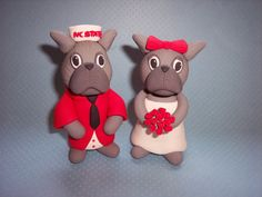 NC State cake toppers.
