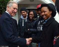The group, aged between 16 and 25, were delighted to meet the future king