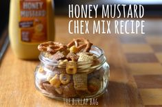 """Honey mustard chex mix – a healthy way to get your """"salty"""" craving"""