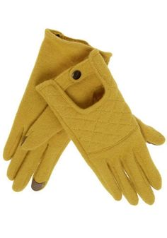 KIT Gloves in Chartreuse | Mod Retro Vintage Gloves | ModCloth.com - StyleSays