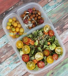Healthy salad ideas packed for lunch with @EasyLunchboxes