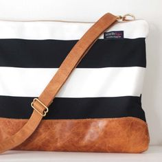 A Better Life laptop bag sewing machines, purs, diaper bags, laptop bags, black white, better life, summer bags, leather bags, laptop sleeves