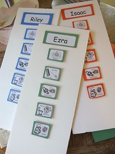 Some printable morning and afterschool routine cards