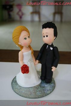how to make fondant groom and bride figurines