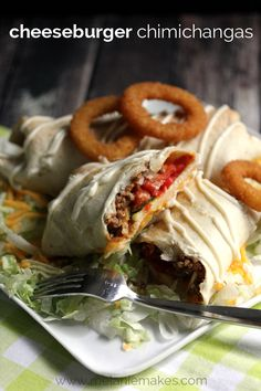 Cheeseburger Chimichangas