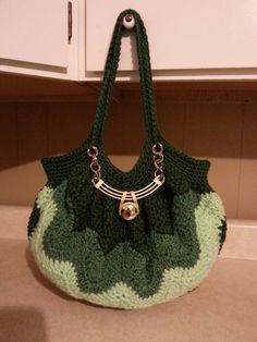 #Crochet Chevron Purse Bag Handbag #TUTORIAL