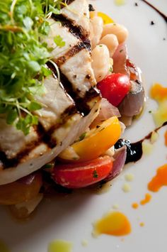 Grilled Swordfish with Cantaloupe Salsa