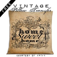 Easy diy Home Decor Pillow Transfer