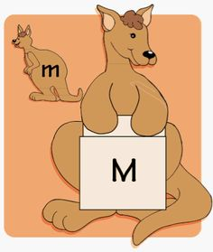 TheMailbox.com Duplicate the mama and baby kangaroo patterns onto tagboard. Color and cut out the patterns.  Slip a library card pocket under the forelegs on each mama kangaroo; then glue the pockets in place. Laminate the patterns; then program each of the mama and baby kangaroos with an uppercase or lowercase letter, respectively. Make a slit along each library card pocket's opening. To use this center, a child matches a baby to a mama kangaroo, then slides the baby into the mama's pouch.