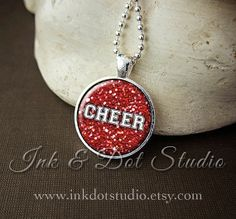 Cheer Cheerleader Necklace Cheerleading Pendant by inkdotstudio, $12.00