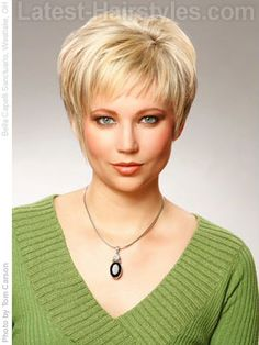 Short Haircuts For Fine Hair   ... : Pictures, How To's & Tips For Short Bangs   Latest-Hairstyles.com
