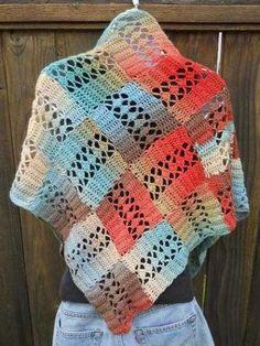 entrelac crochet shawl