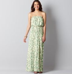 Animal Print Strapless Maxi Dress- perfect for any occasion. #LOFTSummerGetaway