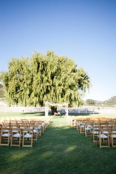 A sweet ceremony at Saddlerock Ranch. Photography by picotteweddings.com / Wedding Planning by ambereventsblog.com