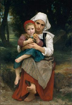 Breton Brother and Sister, William Bouguereau