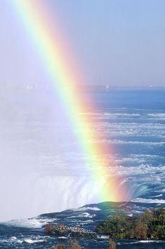 """rainbow Over Niagara Falls, New York"" Photograph by VisionsofAmerica"