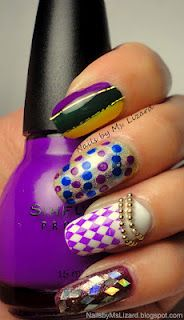 Mardi Gras Inspired Nails