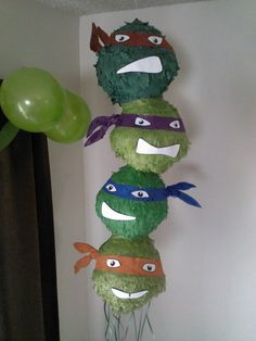 Teenage Mutant Ninja Turtles Pinata by SmashingFunCreations