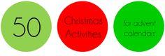 50 christmas activity ideas for advent calendars