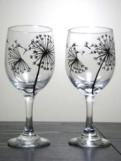 awesome picture of ideas for painting wine glasses fabulous - Wine Glass Design Ideas