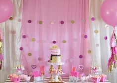 Pink Hollywood Glam Party with Lots of Really Cute Ideas via Kara's Party Ideas | KarasPartyIdeas.com #GirlyParty #HollywoodGlamParty #Party...