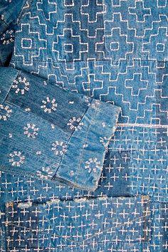 detail, sashiko stitch