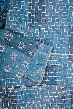 detail, sashiko stitch, indigo, Maharishi