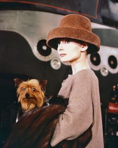 Audrey and dog.