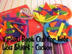 Virtual Book Club for Kids - Lois Ehlert Cuckoo inspired Art for preschoolers (NO MESS!)