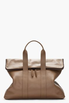 3.1 PHILLIP LIM Brown textured leather 31 Hour Bag